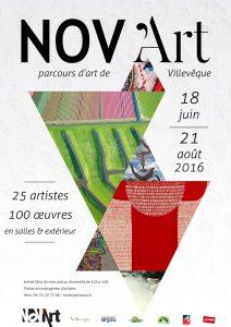 affiche de la 34e édition de NOV'Art, parcours d'art de Villevêque
